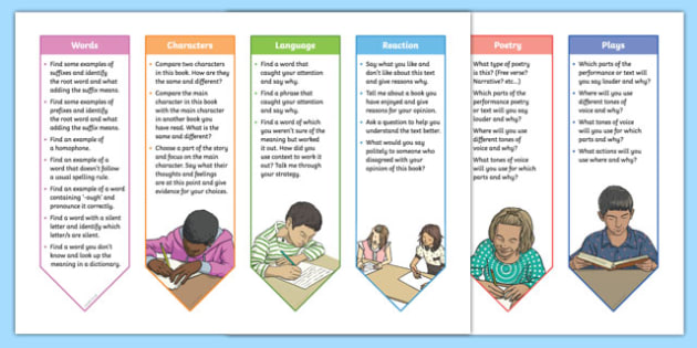 Year 3 and 4 2014 Curriculum Guided Reading Bookmarks