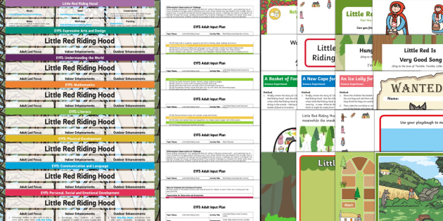 EYFS Little Red Riding Hood Lesson Plan and Enhancement Ideas - planning, Early Years, continuous provision, early years planning, adult led, traditional tales, wolf