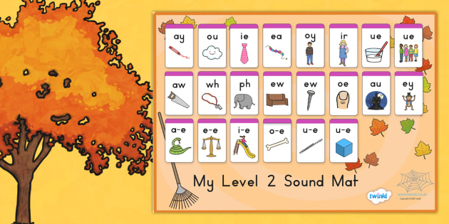 Autumn Level Two Sound Mat - seasons, weather, sounds, visual aid