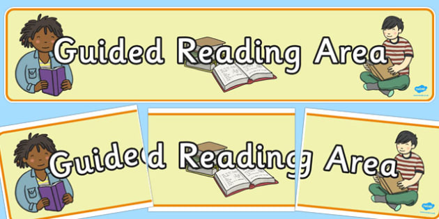 Guided Reading Area Display Banner - guided reading, area, display, banner