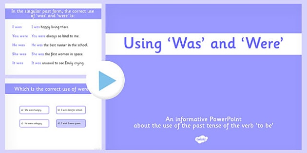 Was and Were PowerPoint Pack - was, were, powerpoint pack, pack