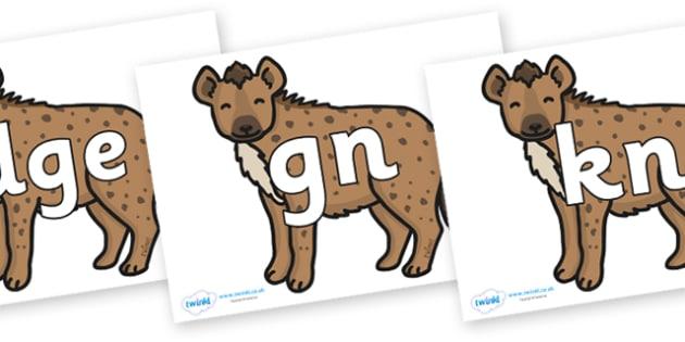 Silent Letters on Hyenas - Silent Letters, silent letter, letter blend, consonant, consonants, digraph, trigraph, A-Z letters, literacy, alphabet, letters, alternative sounds