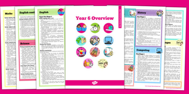 2014 Curriculum Overview Booklet Year 6 - new curriculum, 2014