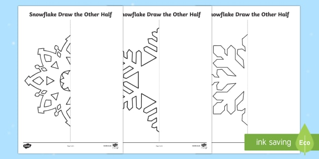 Snowflake Draw the Other Half Activity Sheet