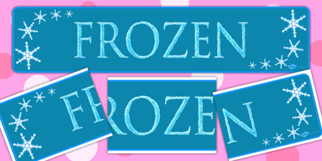 Frozen Display Banner - banners, displays, posters, visuals