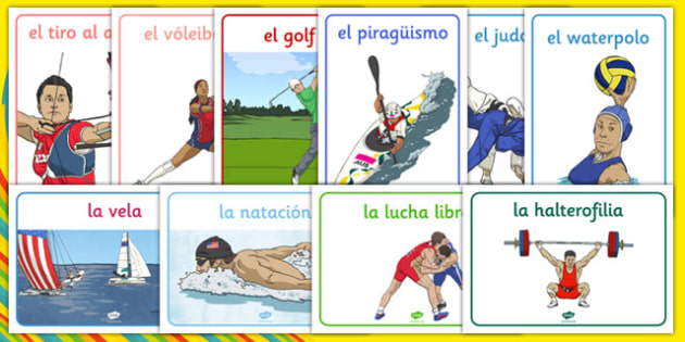 Rio 2016 Olympics Sport Posters Spanish - spanish, Olympics, Olympic Games, sports, Olympic, London, 2012, display, banner, poster, sign, Olympic torch, flag, countries, medal, Olympic Rings, mascots, flame, compete, tennis, athlete, swimming, race