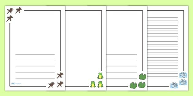 Frog Life Cycle Page Borders - Frog, life cycle, lifecycle, pet, Page border, border,  KS1, writing Borders, Frogspawn, Tadpole, Froglet, Frog, Minibeasts, Topic, Foundation stage, knowledge and understanding of the world, investigation, living thing