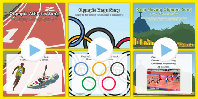 Rio Olympic  Games Songs and Rhymes PowerPoints Pack