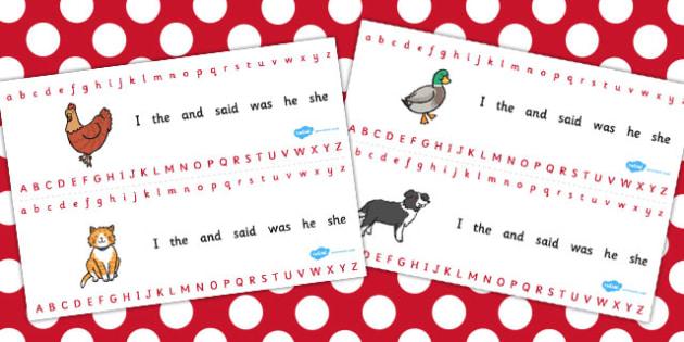 The Little Red Hen Alphabet Strips - alphabet, strip, red hen