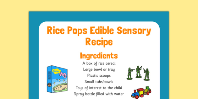 Rice Pops Edible Sensory Recipe - rice pops, edible, sensory recipe, recipe