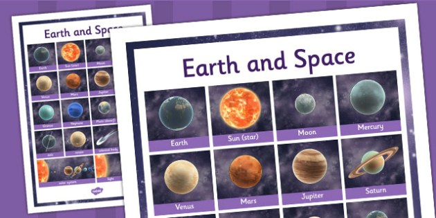 Year 5 Science Earth and Space Word Grid - word grid, science