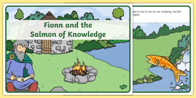 Fionn and the Salmon Of Knowledge Story - Irish history, Irish story, Irish myth, Irish legends, Fionn and the Salmon of Knowledge,, story, literacy, narrative