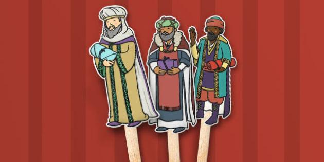 Babushka Stick Puppets - babushka, stick puppets, puppets, story