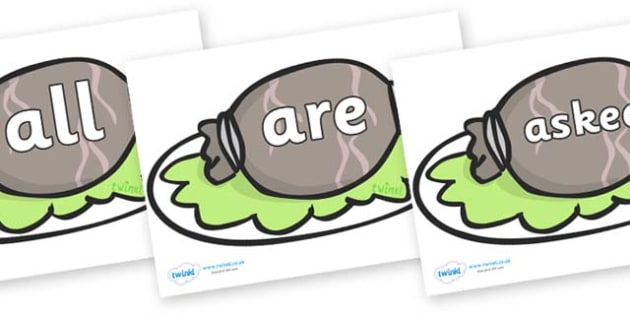 Tricky Words on Haggis - Tricky words, DfES Letters and Sounds, Letters and sounds, display, words