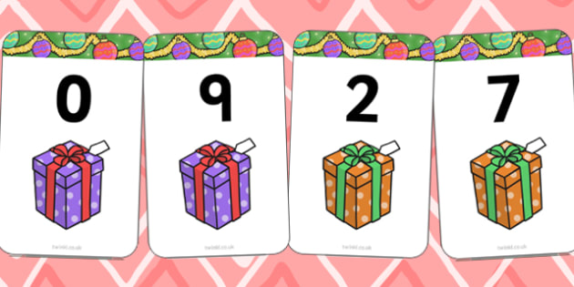 Number Bonds to 9 Matching Cards (Presents) - Number Bonds, presents, present, Matching Cards, Number Bonds to nine, counting, number recognition, christmas, xmas