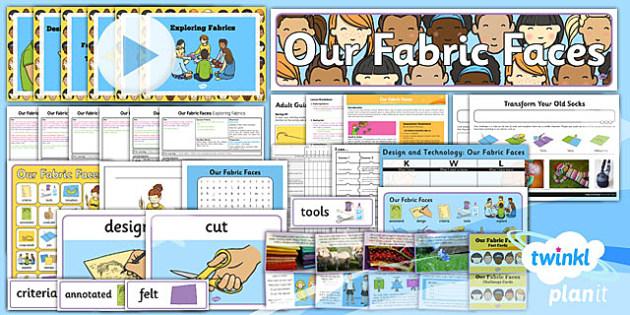 PlanIt - DT KS1 - Our Fabric Faces Unit Pack - planit, unit, pack