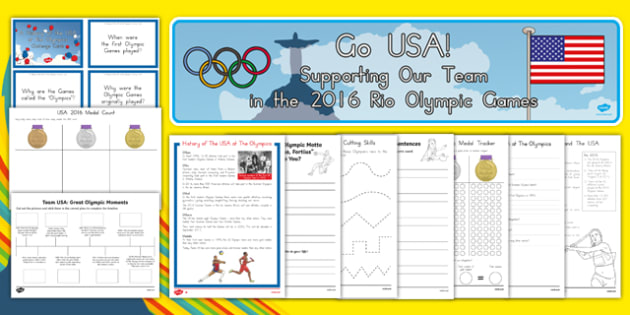 Top 10 USA Olympics Resource Pack