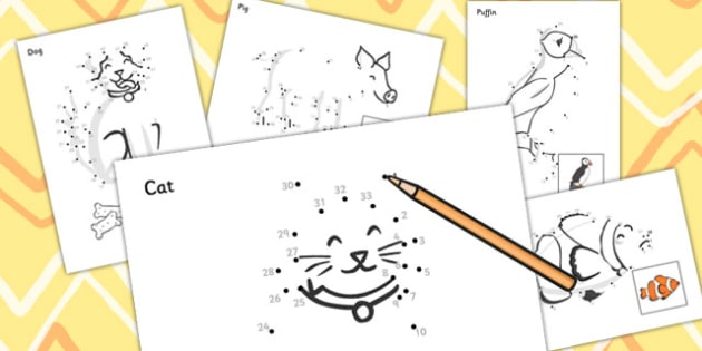 Dot to dot Sheets (Animals) - dot to dot sheets animals, dot to dot, sheets, animals, animal, colouring, fine motor skills, drawing, game, activity, draw, line