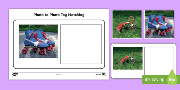 Workstation Pack: Photo to Photo Toy Matching Activity