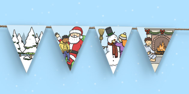 Winter Themed Classroom Display Bunting - winter, christmas, xmas