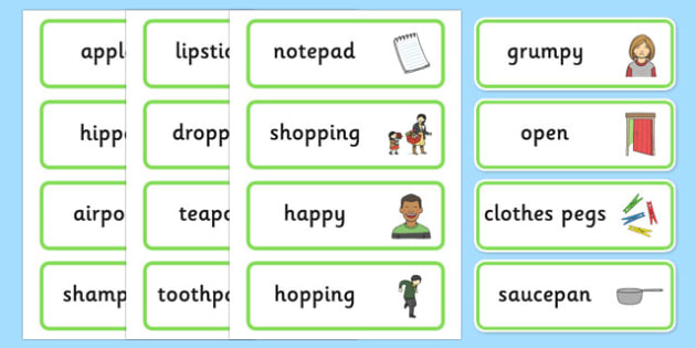 Medial p Word Cards - speech sounds, phonology, articulation, speech therapy, dyspraxia