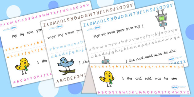 Alphabet Foldable Table Prompts - a-z, visual aid, spelling aid
