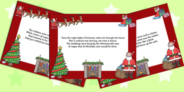 Twas the Night Poem PowerPoint - christmas, powerpoint