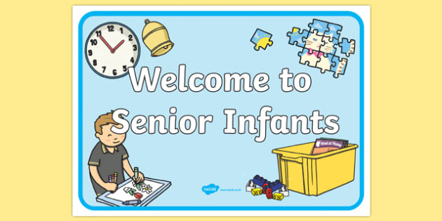 Welcome to Senior Infants Display Poster-Irish