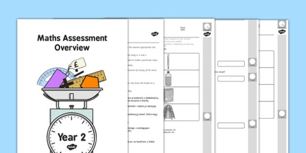 Egzamin na zakończenie klasy 2 w UK Matematyka po polsku - polish, assessments, measurement, year 2, maths, term 1