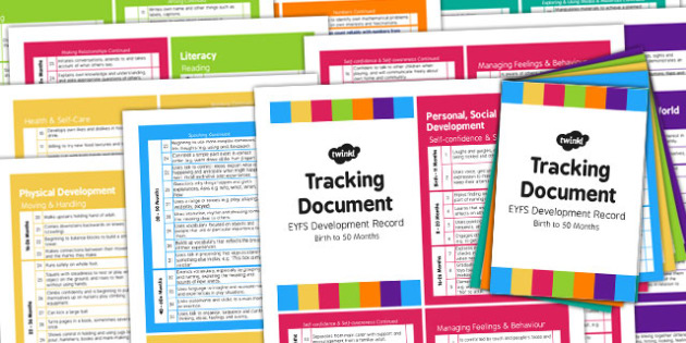 EYFS Early Years Outcomes Tracking Document Pack Birth 50 Months