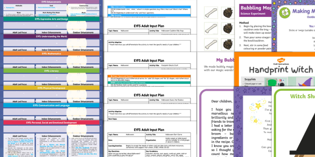 EYFS Bumper Planning Pack to Support Teaching on Room on the Broom