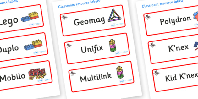 Ant Themed Editable Construction Area Resource Labels - Themed Construction resource labels, Label template, Resource Label, Name Labels, Editable Labels, Drawer Labels, KS1 Labels, Foundation Labels, Foundation Stage Labels