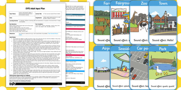 A Train Journey EYFS Adult Input Plan and Resource Pack - journey