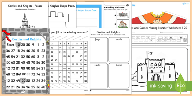 Top Ten Castles  Activity Pack - Castles, knights, medieval, castles and knights