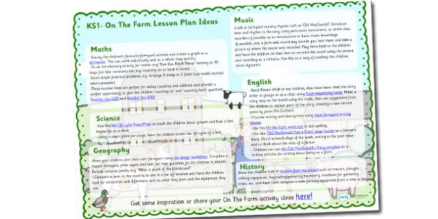 Farm Lesson Plan Ideas KS1 - farm, on the farm, farm lesson plan, farm lesson ideas, farm lesson planner, on the farm lesson ideas, lesson plan, mtp