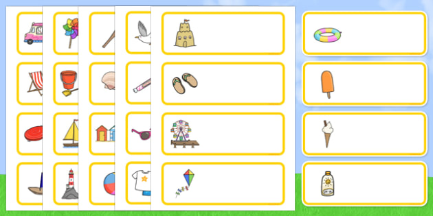 Editable Drawer - Peg - Name Labels (Summer) - Classroom Label Templates, Resource Labels, Name Labels, Editable Labels, Drawer Labels, Coat Peg Labels, Peg Label, KS1 Labels, Foundation Labels, Foundation Stage Labels, Teaching Labels