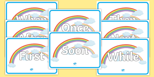 Sentence Openers on Rainbows - literacy, sentences, rainbow