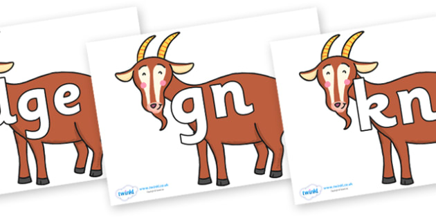Silent Letters on Hullabaloo Goat to Support Teaching on Farmyard Hullabaloo - Silent Letters, silent letter, letter blend, consonant, consonants, digraph, trigraph, A-Z letters, literacy, alphabet, letters, alternative sounds
