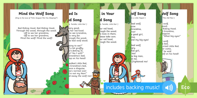 Little Red Riding Hood Songs and Rhymes Resource Pack