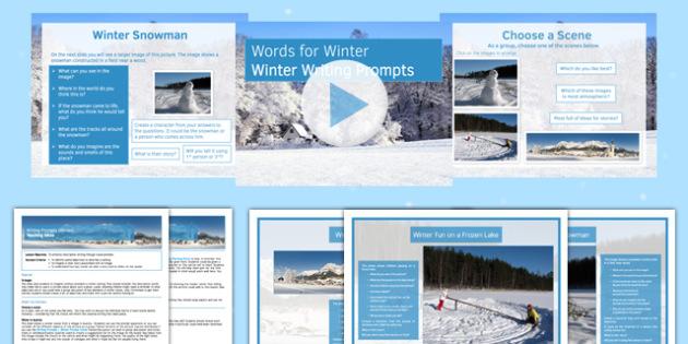 Writing Prompts Winter Lesson Pack - KS3, KS4, Writing Prompts, Creative Writing, Winter, English, Snowmen, Snow, Christmas