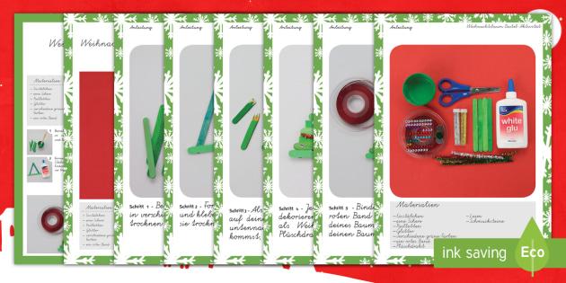 Weihnachtsbaum Bastel Aktivität - Basteln, Weihnachten, Weihnachtsdekoration, Weihnachtsaktivität,German