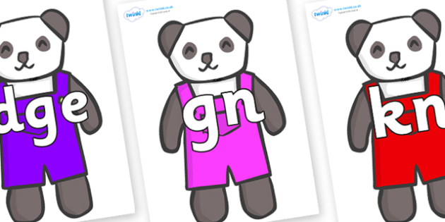 Silent Letters on Panda Bears - Silent Letters, silent letter, letter blend, consonant, consonants, digraph, trigraph, A-Z letters, literacy, alphabet, letters, alternative sounds