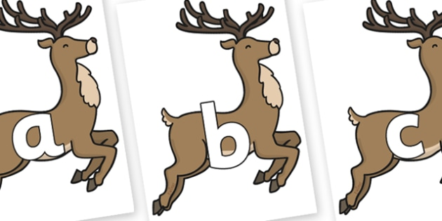 Phoneme Set on Reindeer - Phoneme set, phonemes, phoneme, Letters and Sounds, DfES, display, Phase 1, Phase 2, Phase 3, Phase 5, Foundation, Literacy