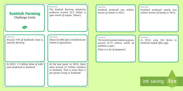 Scottish Farming Fact Cards - Requests CfE, farming, farming display, Scottish farming, agriculture, fact cards, Scottish
