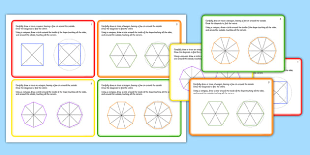 Regular Shapes Challenge Cards - challenge, cards, regular shapes, 2d, shapes, shape