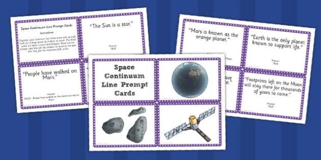 Space Continuum Line Prompt Cards - prompt, cards, continuum