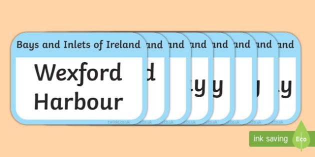 Bays and Inlets of Ireland Flashcards-Irish