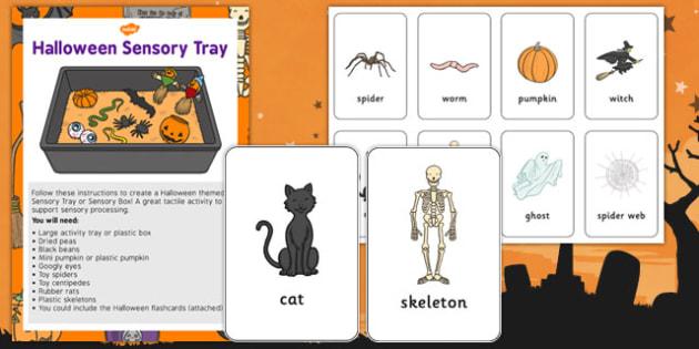 Halloween Sensory Tray - halloween, sensory tray, sensory, tray