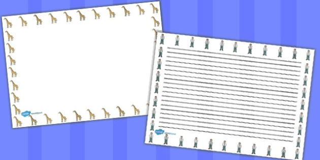 Giant Themed Landscape Page Borders - page borders, giant, border