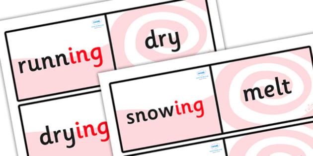 Suffix Loop Cards ing - suffix loop cards, suffixes, suffix, suffix activity, suffix ing, ing, ing loop cards, suffix games, ks2 literacy resources